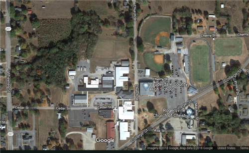 2018 Satellite View of LCHS Campus from Google Maps
