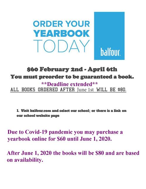 Yearbooks are $60
