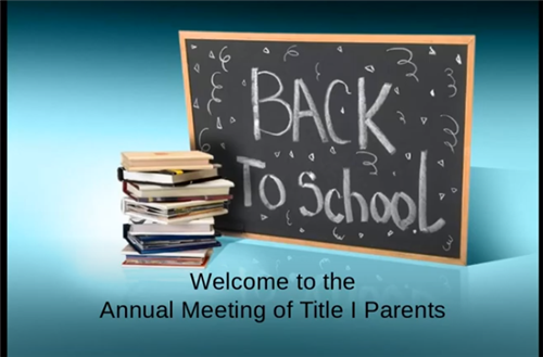 Annual Meeting of Title I Parents